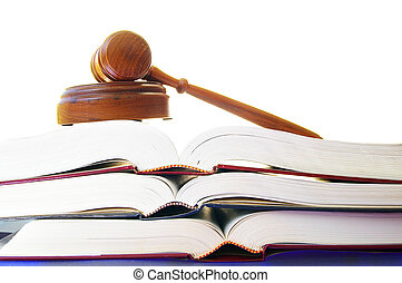 Dicción legal en un montón de libros de leyes