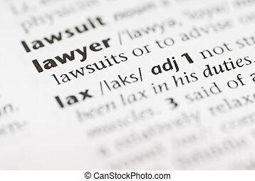 Diccionario Macro: abogado.