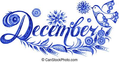 Diciembre el nombre del mes