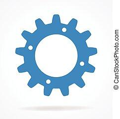 diente, elemento, solo, engranaje, diente de rueda de cadena, vector