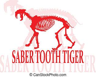 diente, sable, tiger.