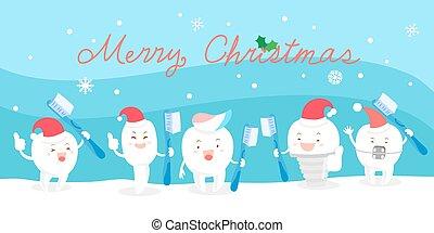 Dientes con Navidad