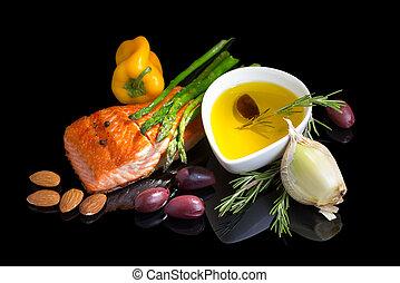 Dieta mediterránea omega-3.
