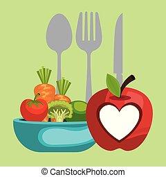 Dieta vegetariana estilo de vida saludable