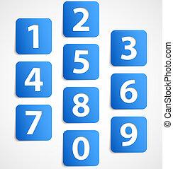 Diez banderas azules con números