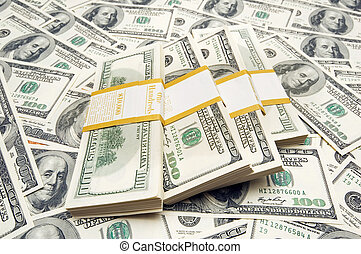 diez, dinero, mil, dólar, plano de fondo, pilas