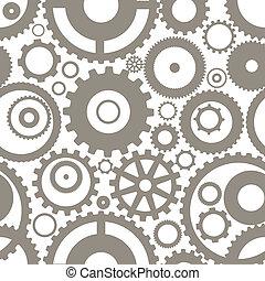 diferente, engranaje, seamless, textura, ruedas, o