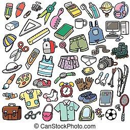 diferente, objetos
