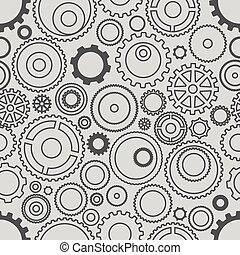 diferente, pauta engranada, seamless, wheels., illustrati, minimalism, o