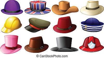 Diferentes diseños de sombreros