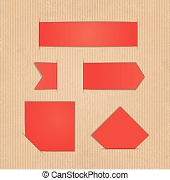 Diferentes etiquetas de papel. Ilustración de vectores