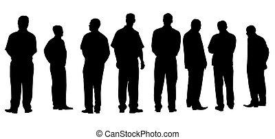 Diferentes hombres de negocios aislados