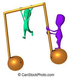Diferentes marionetas entrenadas en el icono