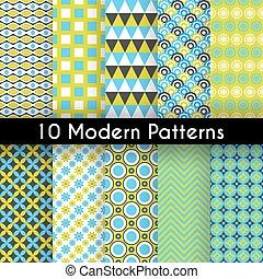 Diferentes patrones vectores modernos sin costura