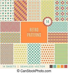 Diferentes patrones vectoriales antiguos