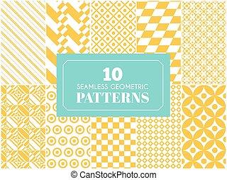 Diferentes patrones vectoriales antiguos.