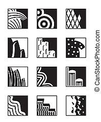Diferentes superficies de construcción