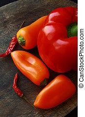 Diferentes vegetales frescos