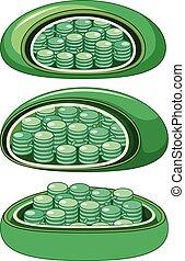 Diferentes vistas de las células de las plantas amplificadas