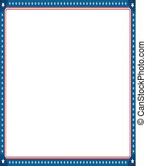 digitalmente, border., foto, imagen, bandera, norteamericano, generar, marco, vacío