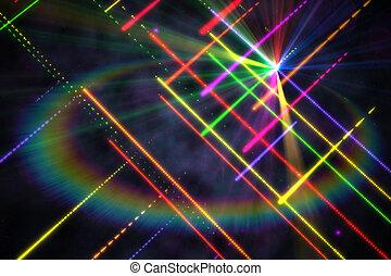 digitalmente, plano de fondo, disco, generar, laser