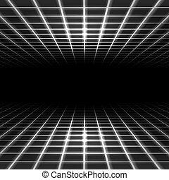 dimensional, espacio, cuadrícula