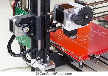 dimensional, impresora, tres