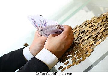 dinero, asidero entrega