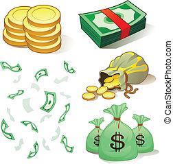 dinero, coins
