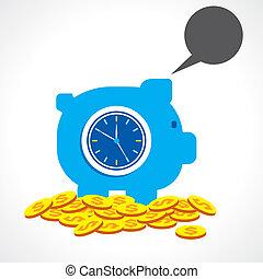 dinero, concepto, ahorro, tiempo, elaboración
