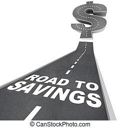 dinero, dólar, muestra de la venta, descuentos, ahorros, excepto, hallazgo, camino