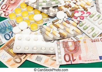 Dinero de medicamentos para la salud