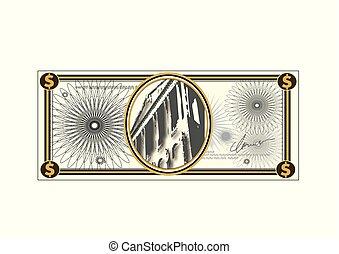 Dinero de papel bancario