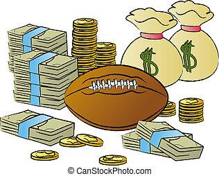 dinero, fútbol