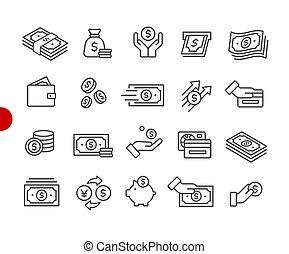 //, dinero, iconos, punto, serie, rojo