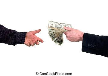 dinero, prestar, efectivo