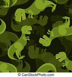 Dinosaurio 3d antecedentes. Un patrón de tiranosaurio sin costura. Ornamento depredador prehistórico para tejido bebé. Lagarto T-rex de período jurásico.