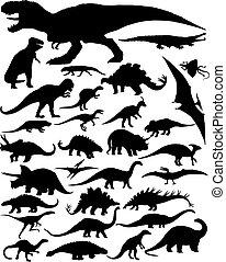 Dinosaurios siluetas