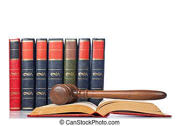 Dio sobre el libro de leyes abierto