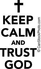 dios, confianza, calma, retener