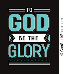 dios, gloria, ser