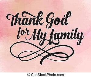 dios, mi, agradecer, familia