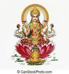 diosa hindú, lakshmi, -