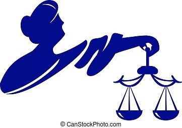 diosa, themis, illustration., justice., femida, vector