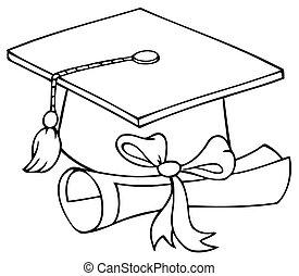 diploma, diplomado gorra