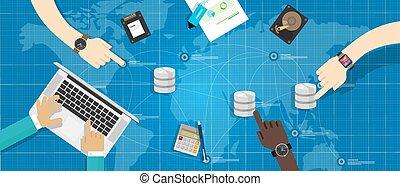 dirección, almacenamiento, virtualization, base de datos