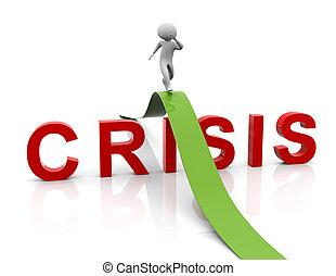 dirección, crisis, estrategia