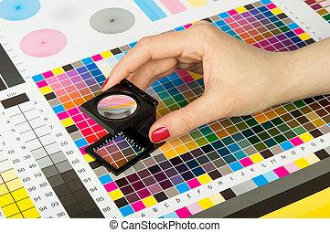 Dirección de color en la producción de huellas