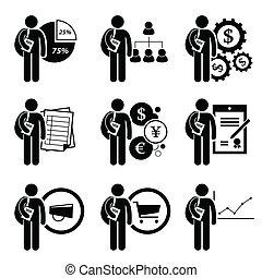 dirección, grado, empresa / negocio