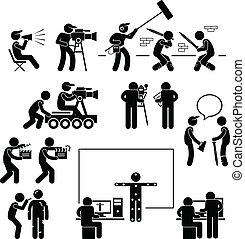 Director haciendo cine actor